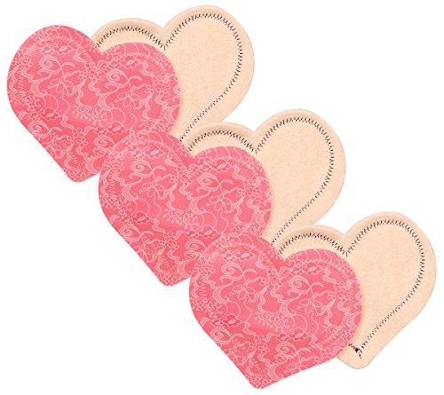 Lace Nursing Pad - Fresh Baby 3 Piece Mama Pads, Pink Lace