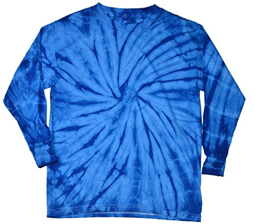 Colortone Tie Dye L/S SM Spider Royal ()