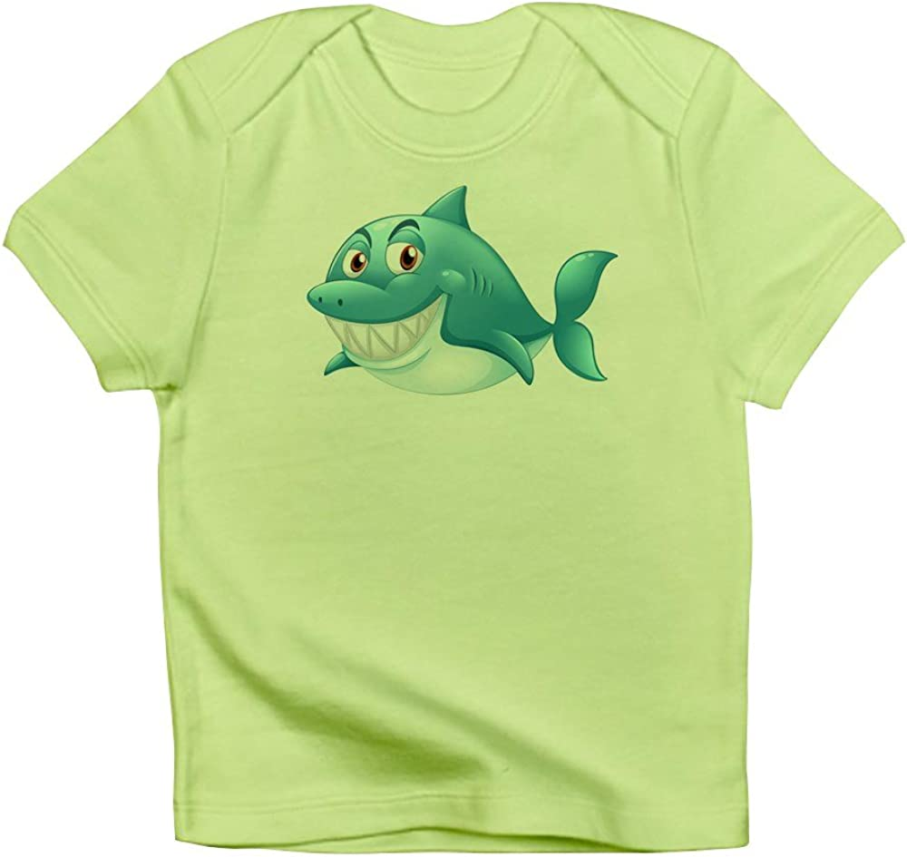 Kiwi 6 To 12 Months Truly Teague Infant T-Shirt Grinning Blue Shark