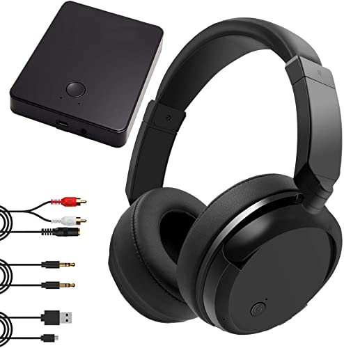LZONSTK TV Headphones Wireless, 2.4GHz Wireless TV Headphones for TV Watching 100ft Distance Rechargeable Transmitter, Foldable No Delay TV Headphones Wireless