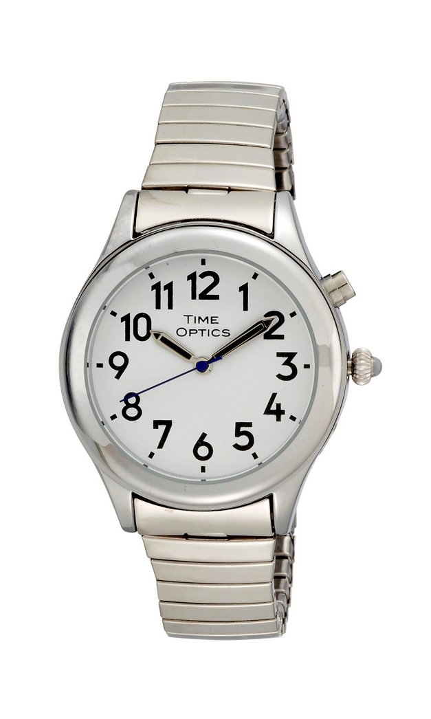 Ladies Silver Tone Talking Watch Dual Voice With Alarm,speaks the Time,day,date,year