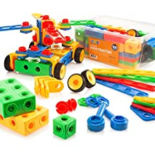 Building Blocks 100 Set - Building Toys Gift for Boys & Girls - STEM Educational Fun Toy Set, Ages 3 Years and Up - Original - By Play22
