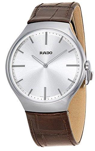 Rado-True-Thinline-Silver-Dial-Brown-Leather-Mens-Watch-R27955105