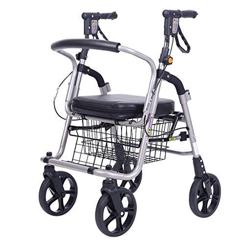 G & F Old Man Carrito de Compras Empuje para Comprar Comida Carrito Ayuda de Ancianos Andador de Cuatro Ruedas Se Puede...