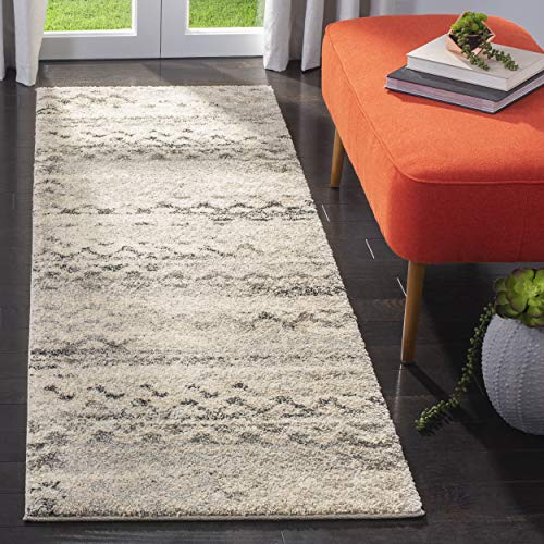 Cream Retro - Safavieh Retro Collection RET2136-1180 Modern Abstract Cream and Grey Runner (2'3