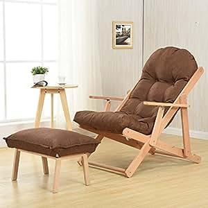 Amazon.com: WSSF - Sillones plegables de madera maciza con ...