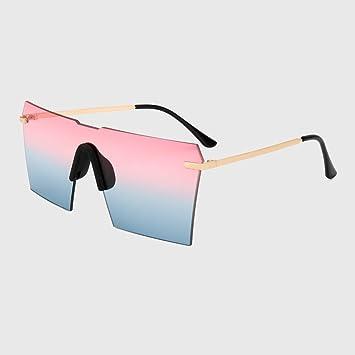 KLXEB Kühlen Luxus Marke Übergröße Motorradtechnik Frauen Sexy Randlose Spiegel Sonnenbrille Schild Schattierungen Männer Winddichte Fahrradzubehör, C6
