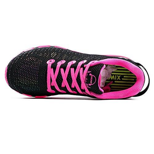 Onemix Kvinna Tillfälliga Luft Sneakers Färgglada Reflektioner Sportsport Löparskor Rosa