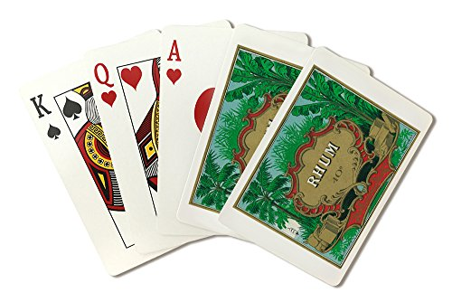 Rhum Forty Proof - Vintage Rum Label (Playing Card Deck - 52 Card Poker Size with Jokers)