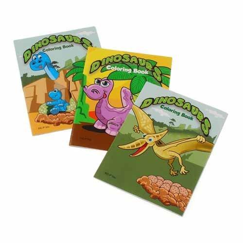 US Toy 12 Mini Dinosaur Coloring Books