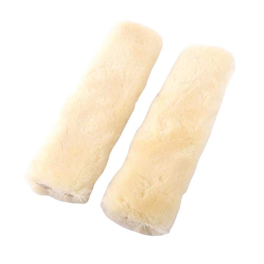 2/pcs de si/ège de s/écurit/é Harnais Coque Sangle Wrap Coussinets doux Coussin confortable durable et r/églable Ceinture de s/écurit/é Couverture /épaule en peluche Pad