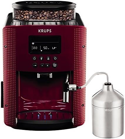 Krups Compact Cappucino EA8165 - Cafetera Superautomática 15 Bares, Pantalla LCD, 3 Niveles Intensidad de 20 ml a 220 ml, Programa de Limpieza y Descalcificación, Molinillo Integrado, Jarra Leche: 325.78: Amazon.es: Hogar
