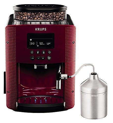 Krups Compact Cappucino EA8165 – Cafetera Superautomática 15 Bares, Pantalla LCD, 3 Niveles Intensidad de 20 ml a 220 ml…