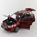 1/18 Subaru Forester 2014 Red SUV Diecast Model Car Alloy Toy Car Miniatures MPV Collection Gifts Hot Selling Vehicle