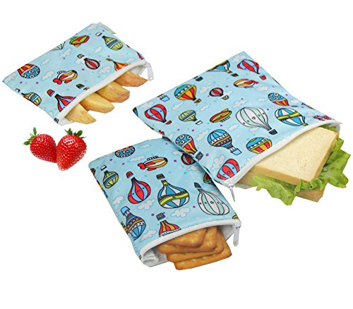 Wegreeco Reusable Snack Bags, (Set of 3) - Balloon -