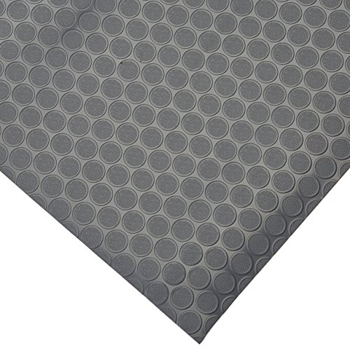 (Rubber-Cal Coin-Grip Flooring and Rolling Mat, Dark Grey, 2mm x 4 x)