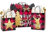 Buffalo Plaid Christmas Assortment 125 Paper Bags (Unit Pack - 125)