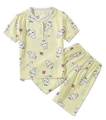 LLIOFUS Little Boys$Girls 2PS Summer Snug-fit Pajamas Soft Cotton Kid pjs set-001
