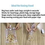 EasyULT Handheld Heat Bag Sealer, Smart Plastic Bag Sealer Heat Sealer Machine for Airtight Food Storage, Reseals Snack Bags, Heat Seals Plastic Aluminum Bags, Great Stocking Stuffer,Make Food Fresh