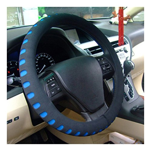Car Classic Hubcaps - Edtoy Universal Car steering wheel cover, Classic Car Wheel Protector (blue)