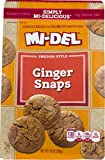 Mi-Del Swedish Style Cookies, Ginger Snaps, 10 Ounce (Pack of 12)