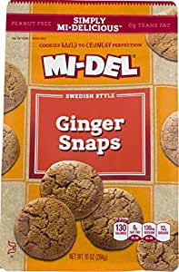 MI-DEL Swedish Style Cookies, Ginger Snaps, 10 Ounce (Pack ...