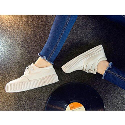 Femmes Toile Haut Bas Xianshu Chaussures Lacer azwgnqH