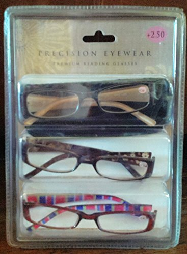 Precision Eyewear Premium Reading Glasses Set Of 3 +2.50 - Icon Eyewear