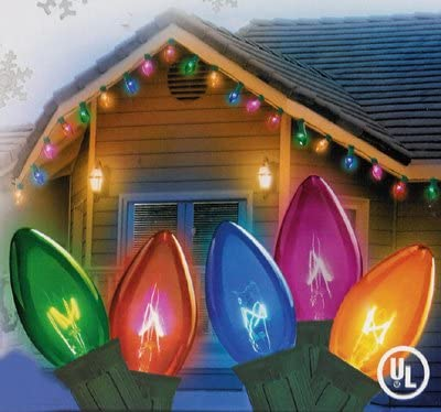 NorthLight Transparent Multi-Color C7 Christmas Lights – Green Wire44 Set Of 25