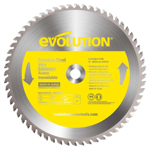 Evolution Power Tools 14BLADESS Stainless Steel Cutting Saw Blade, 14-Inch x 90-Tooth