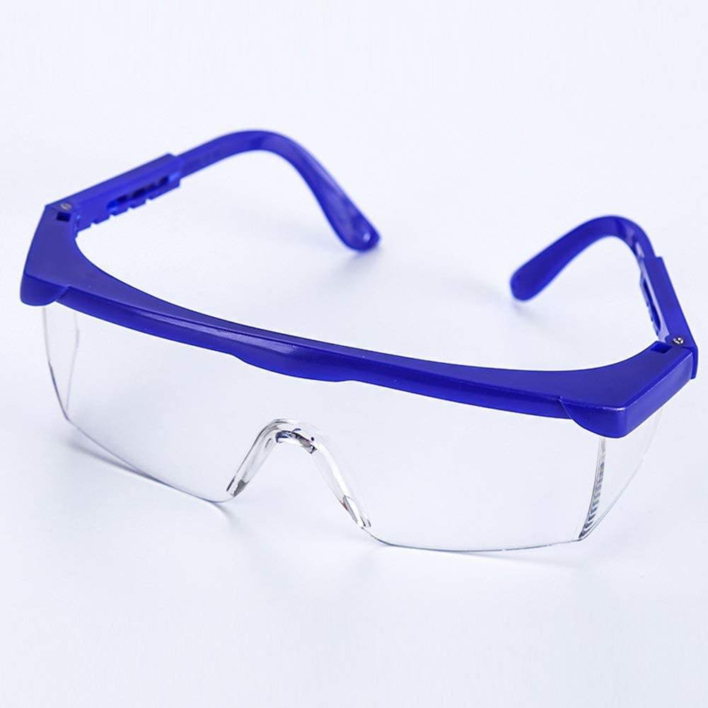 JUST N1 6//12pcs Safety Protective Goggles,Adjustable Disposable Blue Frames for Kids Adult Eye Protection with Clear Lenses Anti-Fog and Splash-Proof Goggles