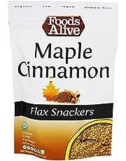 Foods Alive - Organic Flax Crackers Maple & Cinnamon - 4 oz.