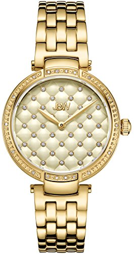 JBW Women's Gala .18 ctw Diamond 18k Gold-Plated Stainless Steel Watch J6356E