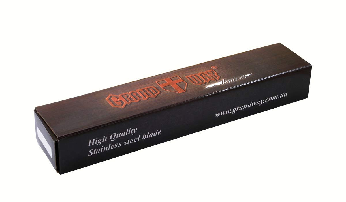 GRAND WAY Robinson • Cuchillo DE Hoja • Fija para Caza • Longitud Total: 243mm • Hoja TM-UA. 01bb92