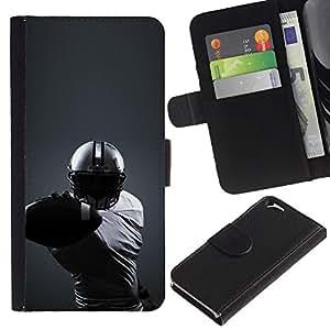 Protector de cuero de la PU de la cubierta del estilo de la carpeta del tirón BY RAYDREAMMM - Apple Iphone 6 - Minimalista fútbol