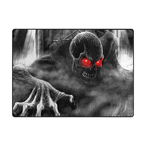 INGBAGS Super Soft Modern Skull Area Rugs Living Room Carpet Bedroom Rug for Children Play Solid Home Decorator Floor Rug and Carpets 80x 58 Inch