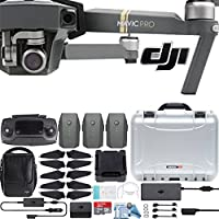 DJI Mavic Pro Fly More Combo with Custom Nanuk Waterproof Hard Case (Silver)