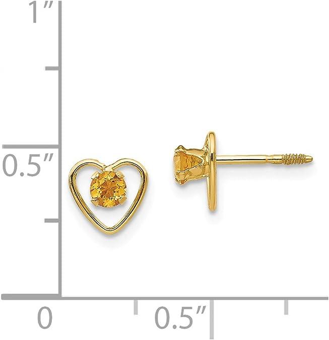 14K Yellow Gold Madi K Childrens 7 MM Bezel Onyx Stud Earrings