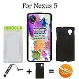 Watercolor Splash Quote Custom LG Nexus 5 Cases-Black-Plastic,Bundle 2in1 Comes with Custom Case/Universal Stylus Pen by innosub