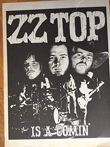 (Original ZZ Top Concert Poster Is A Coming 1973)