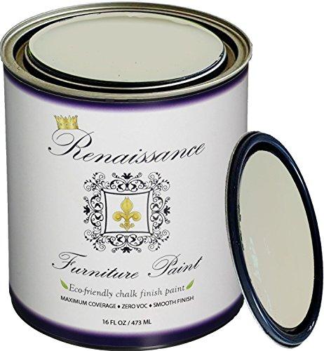 Renaissance Chalk Finish Paint - Old Linen 1 Pint (16oz) - Chalk Furniture & Cabinet Paint - Non Toxic, Eco-Friendly, Superior Coverage