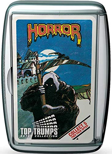 Retro Top Trumps - Horror 2 . All The Classic Horror Characters - A Great Gift Nostalgic Challenge! by Holland Plastics Original Brand