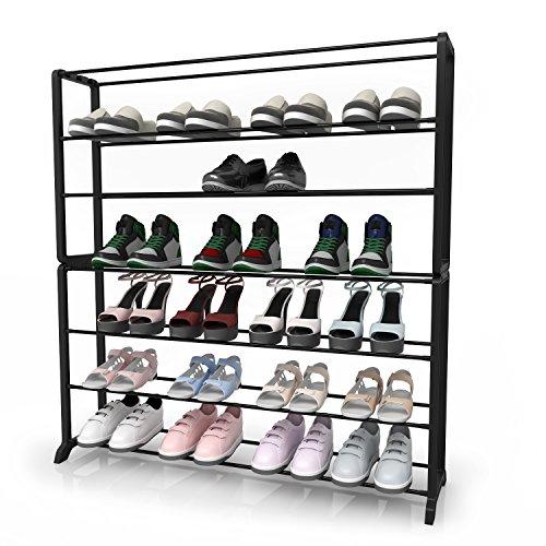 UPC 714449458437, Homdox 7 Tiers Shoe Rack Storage Organizer Cabniet for Bedroom Entryway Walkway 35 Pairs Black