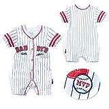 Fairy Baby Newborn Baby Boys Girls Summer Romper Shirt Outfit Snap Up Baseball Creeper Size 12-18 Months (5028)