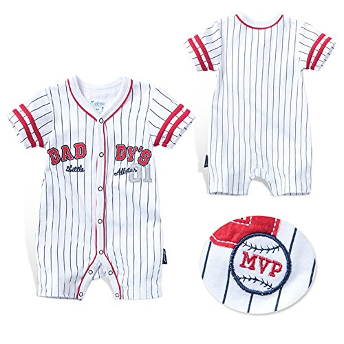 Fairy Baby Newborn Baby Boys Girls Summer Romper Shirt Outfit Snap Up Baseball Creeper Size 12-18 Months -