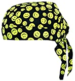 Vega Head Wrap with Smiley Face Graphics (Black, One Size)