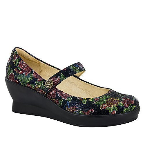 Alegria by PG Lite Women's Flair Mary Jane Wedge,Winter Garden Leather,US 6.5 M