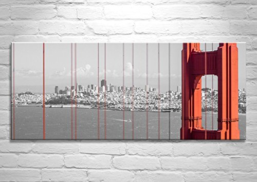 San Francisco Skyline Print Panoramic Wall Art Picture Gift Golden Gate Bridge Bay Area California by Murray Bolesta  Fine Art Prints