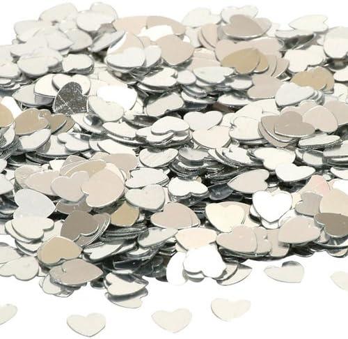 Party Confetti Silver Hearts 14g