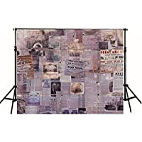 7x5ft Retro Photography Backdrops Splicing Of Old Newspapers Studio Photo Wall Background